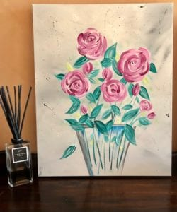 English roses modern floral painting