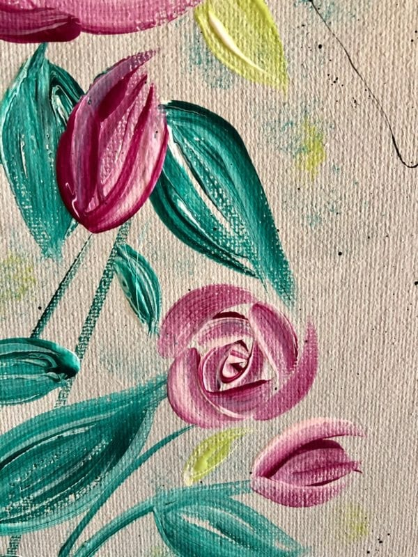 English roses modern floral painting 3