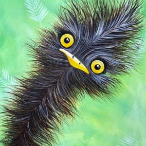 Quirky Emu Original Painting