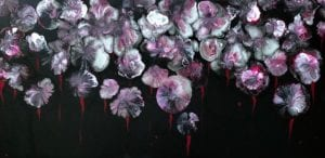 Flowers - original wall art 60x30cms