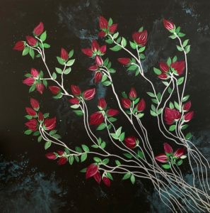 Banksia Roses Modern Contemporary Painting