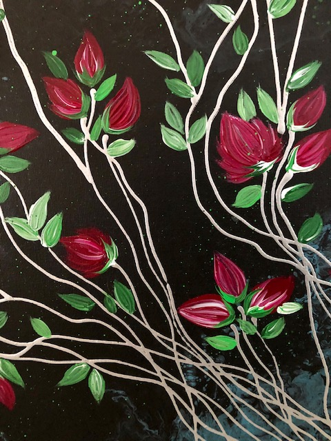 Banksia Roses Contemporary Painting 2
