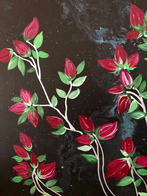 Banksia Roses Contemporary Painting 3