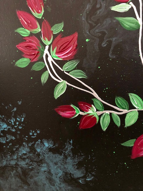 Banksia Roses Contemporary Painting 4