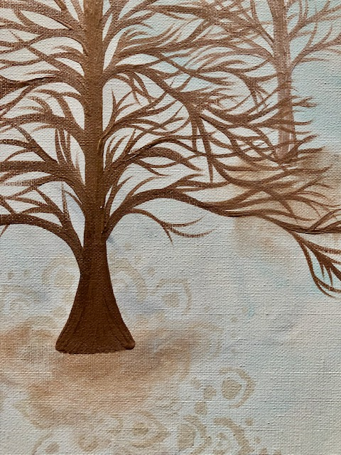 Deciduous Modern Contemporary Painting 2