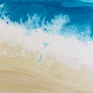Sandy Shoreline Abstract Beach Painting
