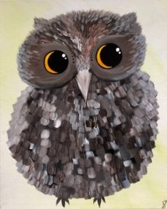 What a Hoot Abstract Owl Painting
