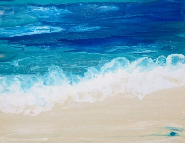 Lapping Waves Contemporary Beach Painting
