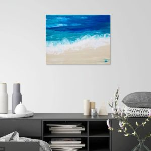 Lapping Waves Contemporary Beach Painting 5