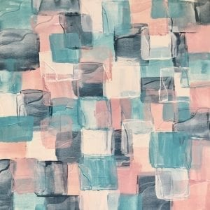 Link Up Abstract Original Painting Squares Pastel