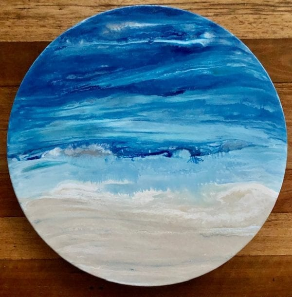 Through the Porthole Ocean inspired original painting